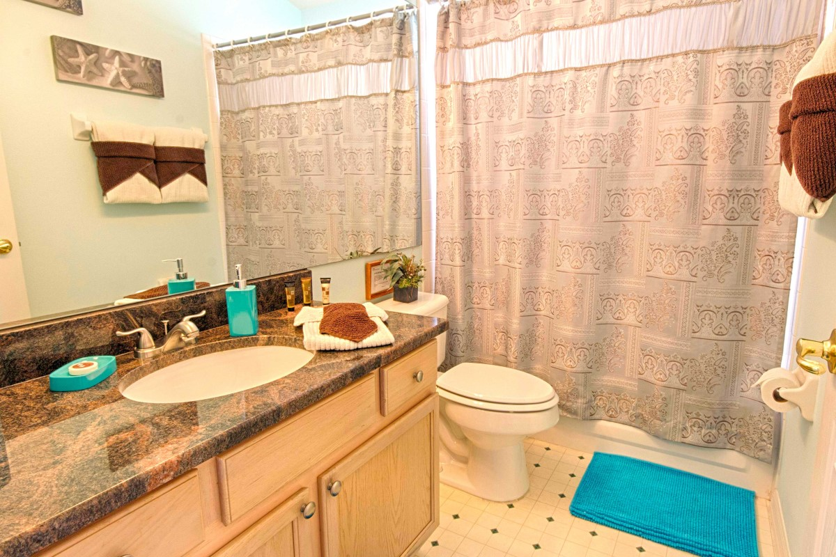 One of 4 bathrooms Serendipity at Indian Creek