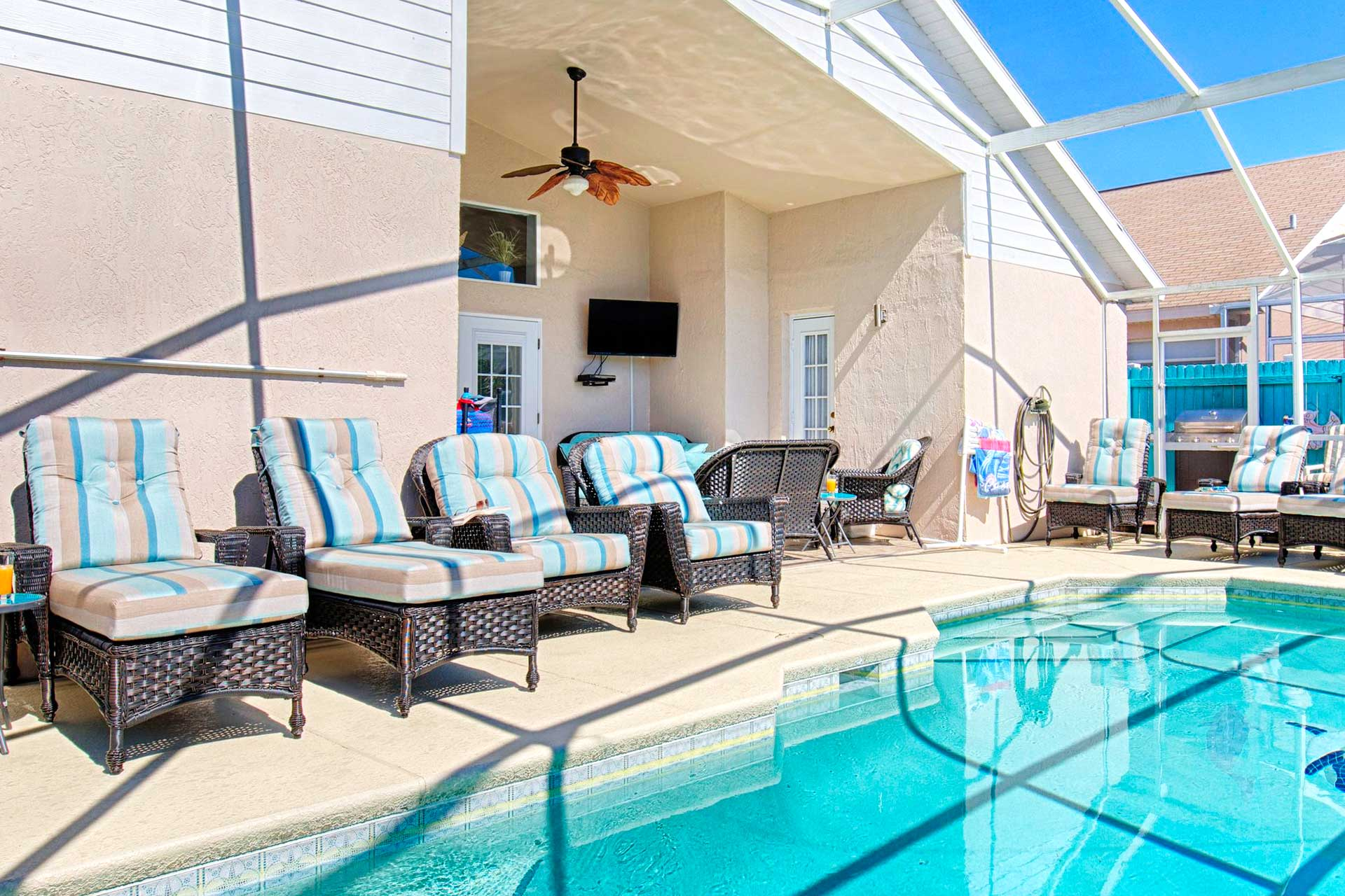 Rattan Pool Furniture Orlando Rental Serendipity at Indian Creek