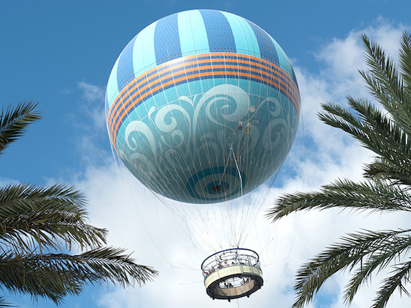 Characters in Flight Balloon Ride at Disney Springs