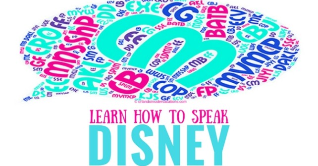 Disney Acronyms Abbreviations Learn How To Speak