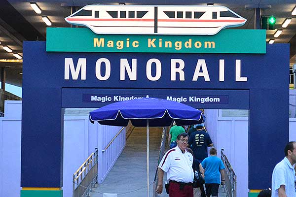 Monorail to Epcot